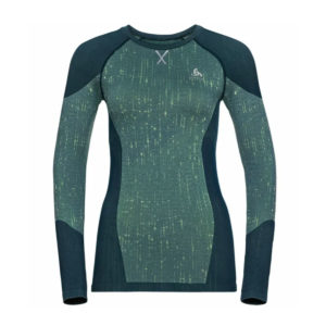 ODLO BL TOP CREW NECK L/S BLACKCOMB VERT
